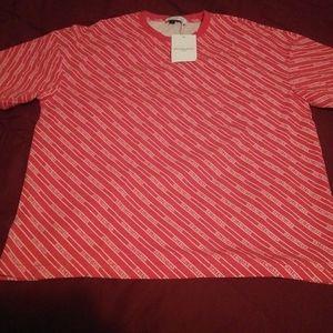 XL Red and White Men's Balenciaga Shirt